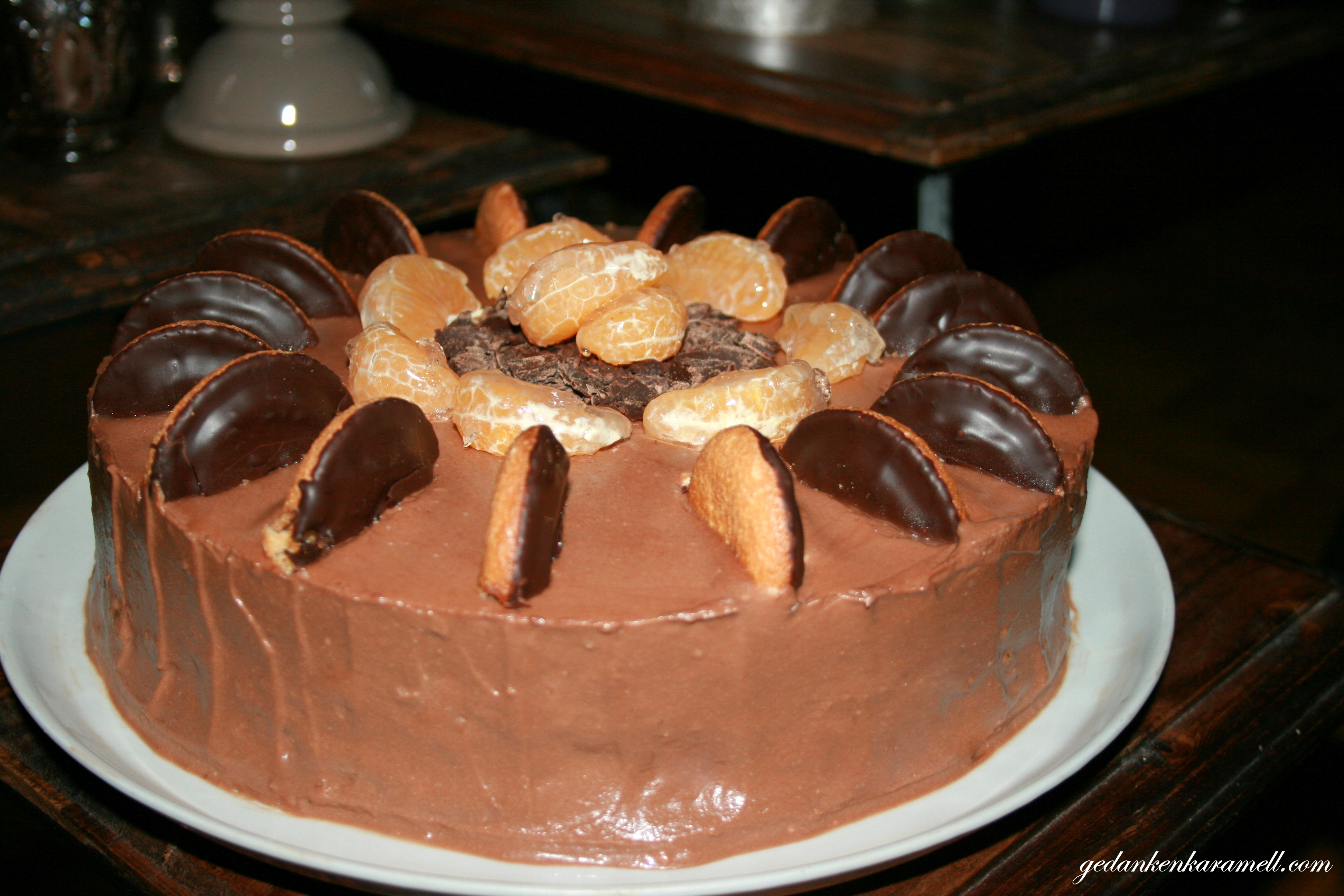 Soft Cake Torte Mit Lecker Lecker Orangencreme Und Schokoganache
